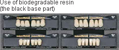 Use of biodegradable resin (the black base part)