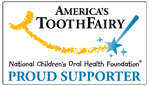 Americas Tooth Fairy - Proud Supporter Logo for GC Fuji II LC CORE Material