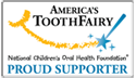 Americas Tooth Fairy - Proud Supporter Logo for GC Fuji IX GP FAST