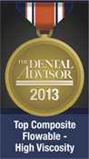 Dental Advisor 2013 Top Flowable Composite Logo for G-aenial Flo