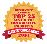 EQUIA Forte Top Aesthetic Restorative Product Award 2016 from Dentistry Today3