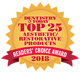 EQUIA Forte Top Aesthetic Restorative Product Award 2018 from Dentistry Today3