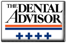 The Dental Advisor Logo - 4 stars for FIT CHECKER ADVANCED and FIT CHECKER ADVANCED BLUE