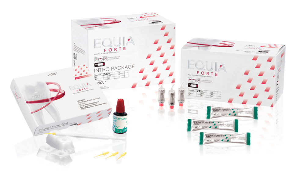 EQUIA Forte Intro Kit Assorted Shades for CA Packshot