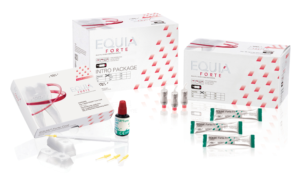 EQUIA Forte Intro Kit Assorted Shade for US Packshot