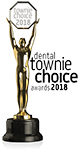 Townie Choice Award 2018 Logo for GC Fuji II LC CORE MATERIAL